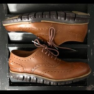 COLE HAAN Zero Grand Leather Wingtip Oxford NEW